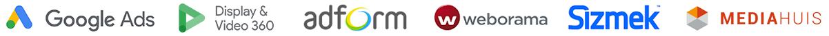 Google Ads DV360 adform weborama sizmek mediahuis
